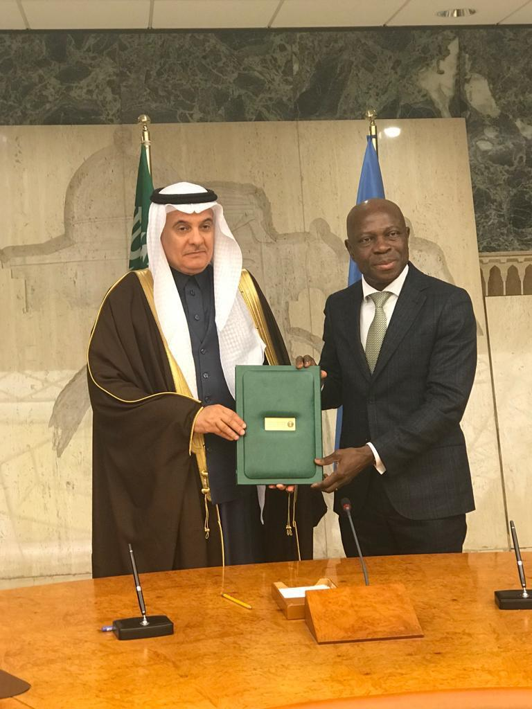 HE Al-Fadley Signs Draft Agreement with IFAD to Promote Cooperation with GCC Member States